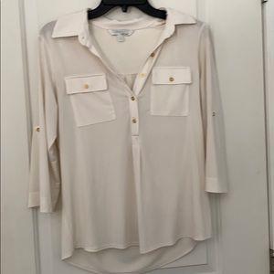cream chic blouse